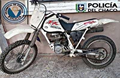 Moto robada hace 20 años en Barranqueras fue encontrada en Formosa