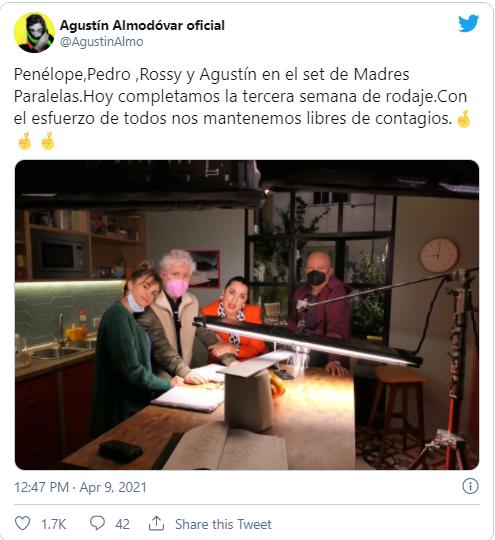 Almodóvar está rodando una nueva película