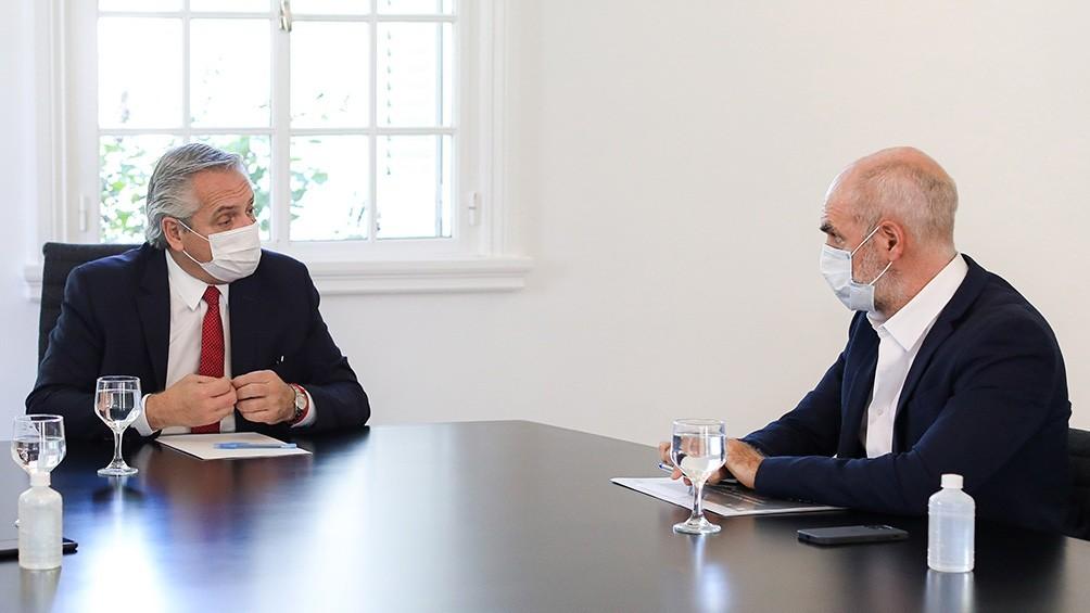 Alberto Fernández recibe a Horacio Rodríguez Larreta para hablar de las clases presenciales