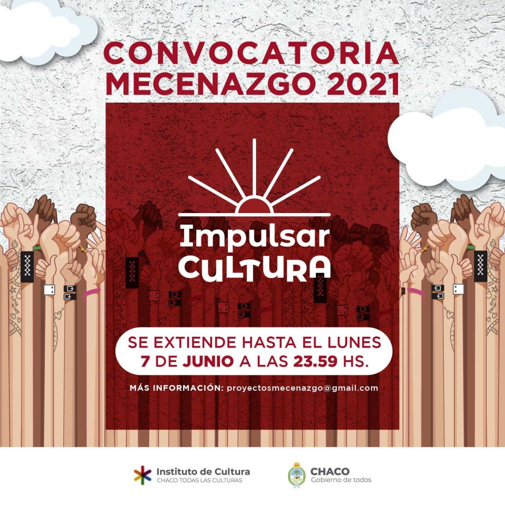 Se extiende la convocatoria para presentar proyectos a través del financiamiento de Mecenazgo