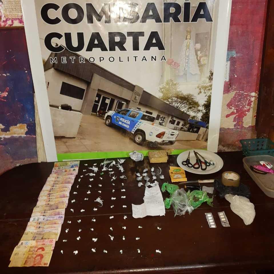 Allanamiento en Resistencia terminó con secuestro de drogas y siete notificados