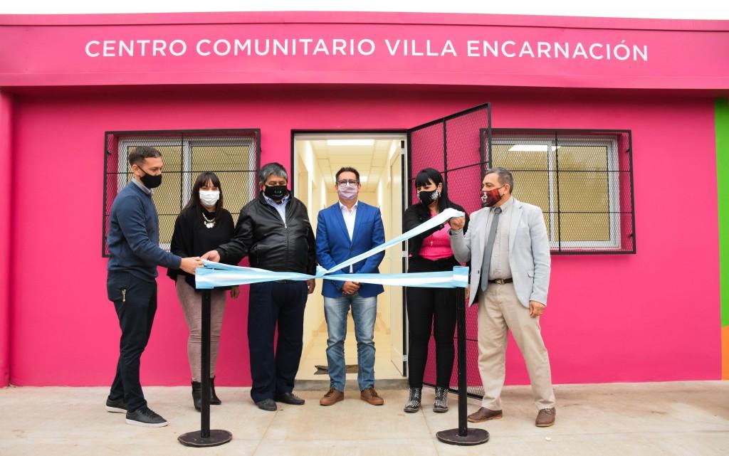 Inauguración de la ampliación del Centro Comunitario Municipal de Villa Encarnación