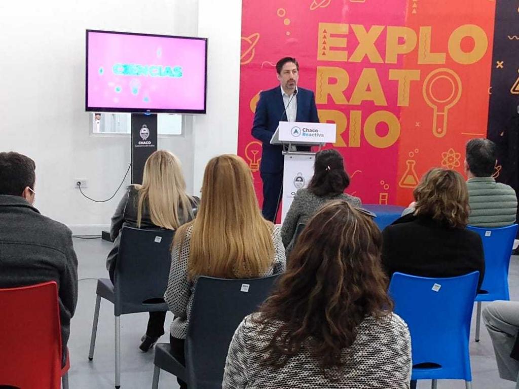 Capitanich y Trotta inauguraron el primer Laboratorio de Innovación y Educación en la región
