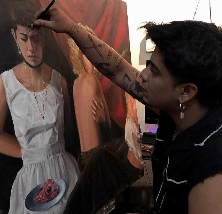 El artista chaqueño Emmanuel Barrios intervino la Sala de Exhibición del Patrimonio del MUBA