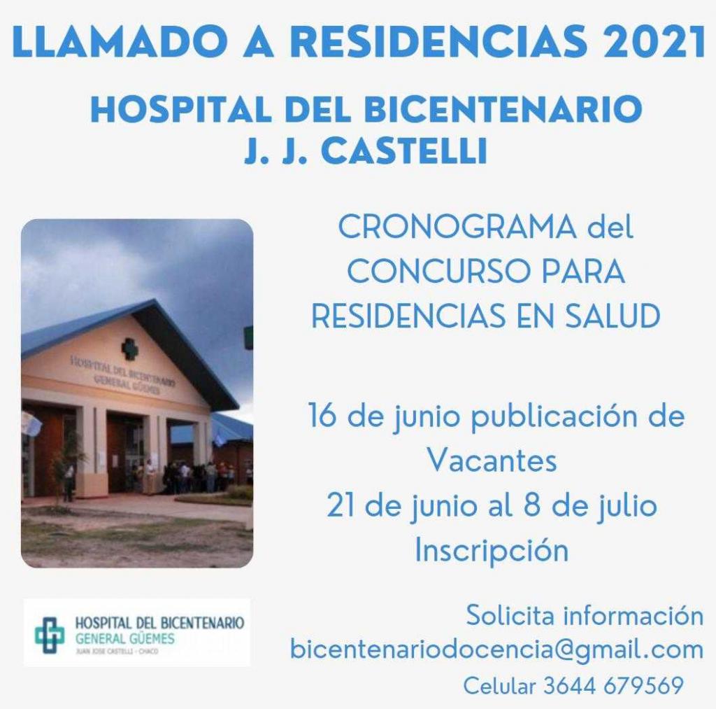 Nación aprobó Nuevas Residencias Médicas para el hospital de Castelli