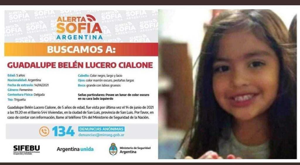 El Chaco adhirió a la búsqueda de la niña de 5 años desaparecida en San Luis