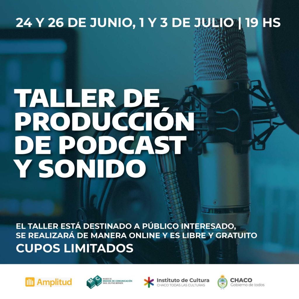 Taller de producción de podcast y sonido en el Museo de Medios