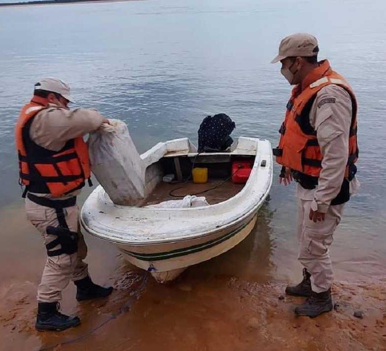Prefectura secuestró marihuana a orillas del Paraná
