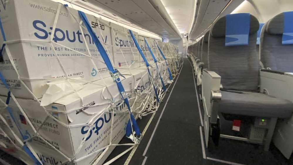 Llega hoy otro avión de Aerolíneas Argentinas con vacunas Sputnik V
