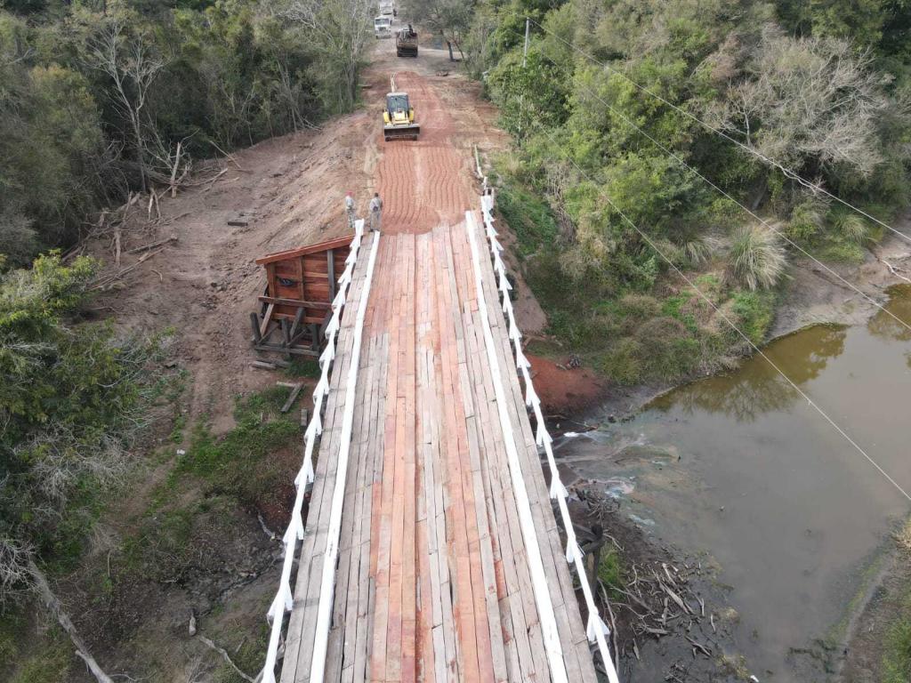 Se realizó una reparación integral del puente sobre el Río Tragadero