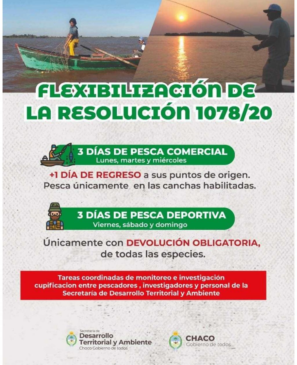 Acuerdo para flexibilizar la Resolución 1078/20