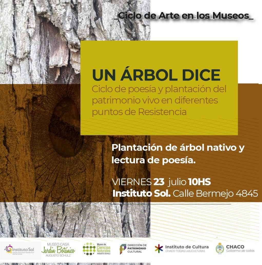 Continúa el ciclo de poesía y plantación del patrimonio vivo en diferentes puntos de Resistencia