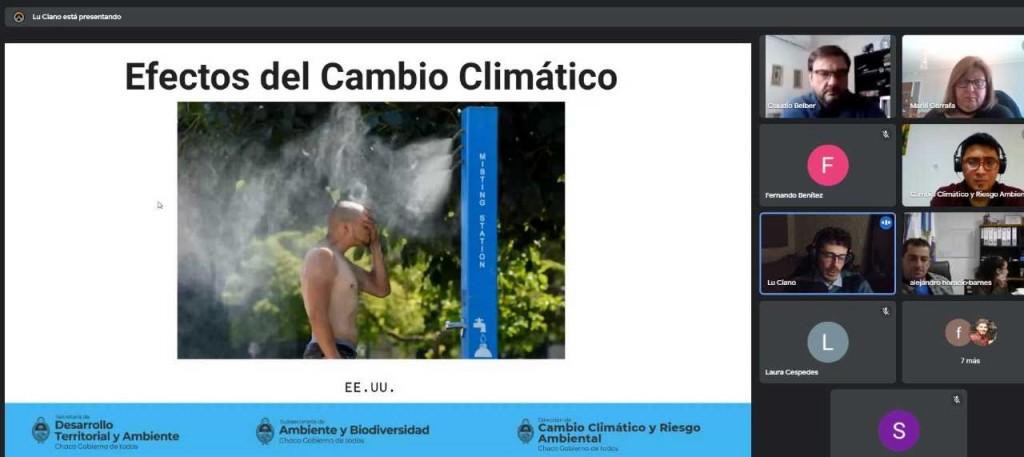 Charla informativa sobre capacitaciones regionales en cambio climático