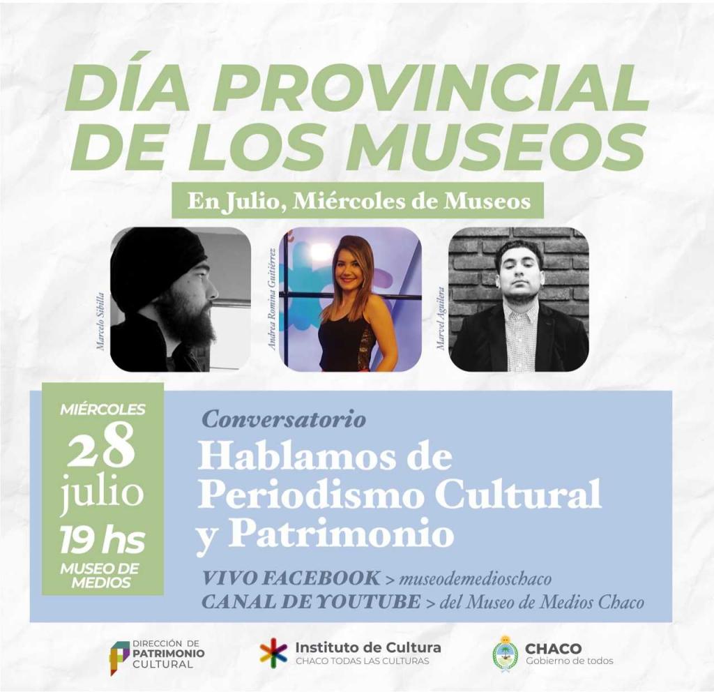 Mes de los Museos: conversatorio sobre periodismo cultural y patrimonio