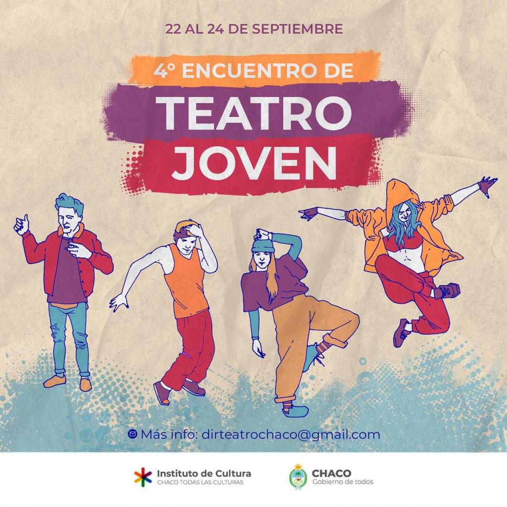 Del 22 al 24 de septiembre, cuarto encuentro provincial de Teatro Joven