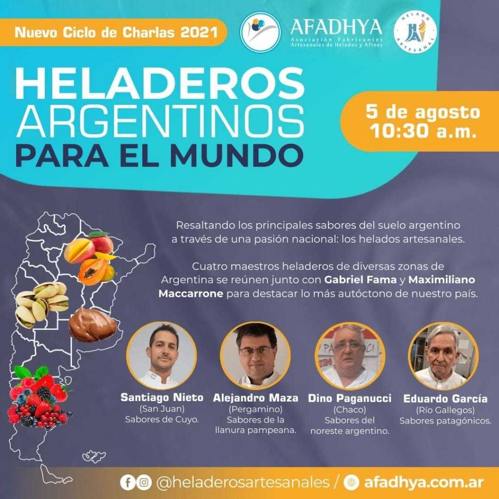 Dino Paganucci disertará en una charla de Maestros Heladeros argentinos