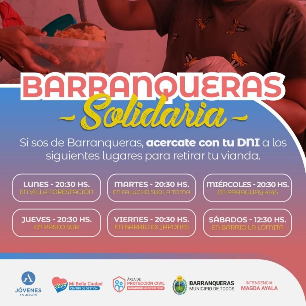 BARRANQUERAS SOLIDARIA: Entrega de viandas a los vecinos y vecinas
