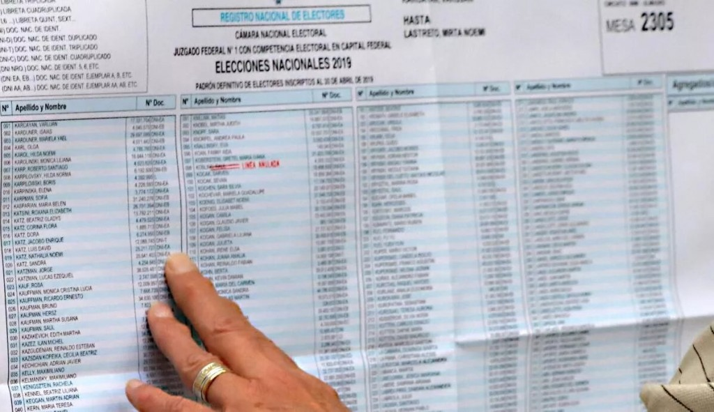 ¿Dónde voto? Consultá los padrones definitivos para las PASO