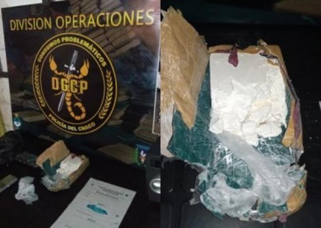 Detienen a dos personas y secuestran más de medio kilo de cocaína