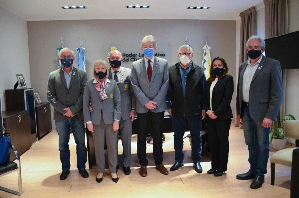 Sager recibió al gobernador del Distrito 4845 del Rotary Internacional