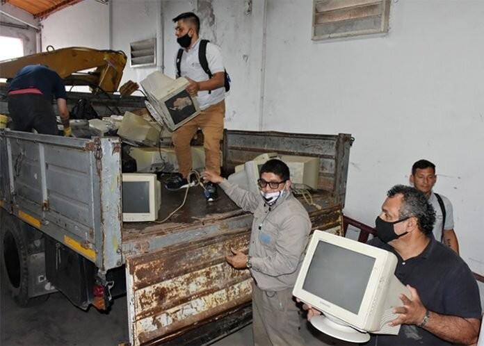 La Legislatura entregó residuos electrónicos a la planta de reciclaje de Barranqueras